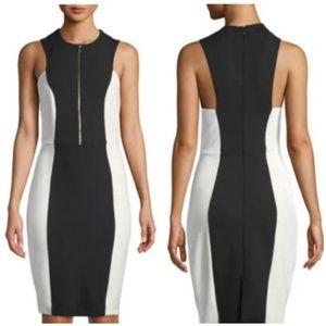 Neiman Marcus Color Block Slimming Sheath Dress